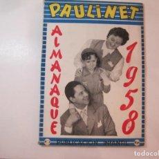 Tebeos: PAULINET-ALMANAQUE AÑO 1958-VER FOTOS-(K-4290). Lote 291925898