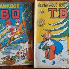 Tebeos: 2 TBO ALMANAQUES PARA 1972 Y 1980, ORIGINALES DE EPOCA. Lote 292380098