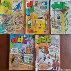 Tebeos: DDT , LOTE 5 REVISTAS ORIGINALES ÉPOCA, EXTRAS Y ALMANAQUES AÑOS 1976-1977-1979. Lote 292382363