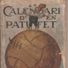 Tebeos: CALENDARI D'EN PATUFET 1923. Lote 292557693