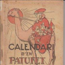 Tebeos: CALENDARI D'EN PATUFET 1928. Lote 292558618