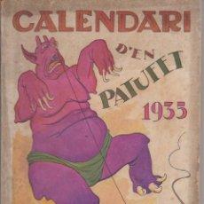 Tebeos: CALENDARI D'EN PATUFET 1935. Lote 292559758