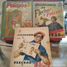 Tebeos: FLECHAS Y PELAYOS-LOTE TRES ALMANAQUES DE 1938-39-Y 40-VER DESCRIPCION. Lote 294074413