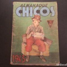 Tebeos: COMIC ALMANAQUE CHICOS 1943 COMPLETO ORIGINAL. Lote 295529688