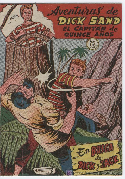 DICK SAND Nº 9 FERMA 1955 VICENTE FARRES, ESCELENTE ESTADO (Tebeos y Comics - Ferma - Otros)
