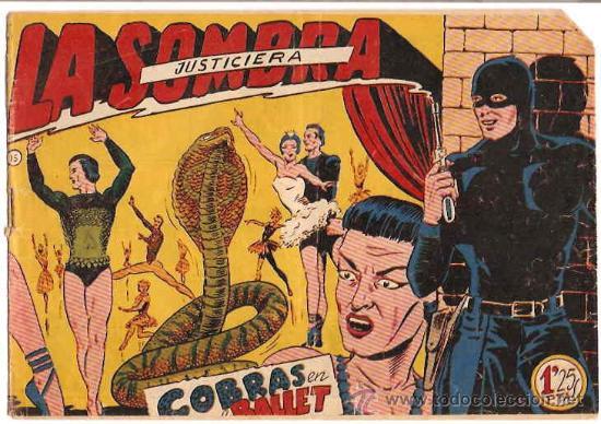 LA SOMBRA JUSTICIERA Nº 15 -- FERMA -- ORIGINAL 1956 (Tebeos y Comics - Ferma - Otros)