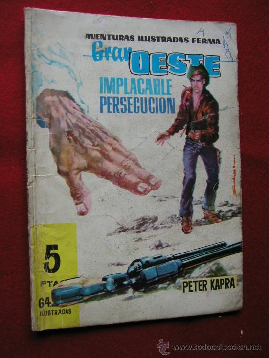 GRAN OESTE (FERMA) Nº 96 UNA PERSECUACION IMPLACABLE AÑO 1962 ¡¡¡ NUMEROS BAJOS !!!! (Tebeos y Comics - Ferma - Gran Oeste)