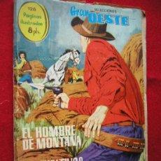 Tebeos: GRAN OESTE (FERMA) Nº 5 EL HOMBRE DE MONTANA Y LOS FUGITIVOS AÑO 1963 ¡ NUMERO BAJO !! EXTRA 128 PAG. Lote 26483035