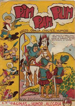 PIM PAM PUM (FERMA) ORIGINAL 1957 Nº. 5 PORTADA Y EN EL INTERIOR ES Nº. 6 (Tebeos y Comics - Ferma - Otros)