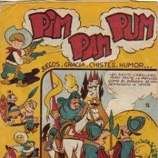 Tebeos: PIM PAM PUM (FERMA) ORIGINAL 1957 Nº. 5 PORTADA Y EN EL INTERIOR ES Nº. 6. Lote 26319310