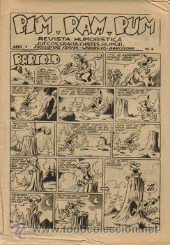 Tebeos: PIM PAM PUM (FERMA) ORIGINAL 1957 Nº. 5 PORTADA Y EN EL INTERIOR ES Nº. 6 - Foto 2 - 26319310