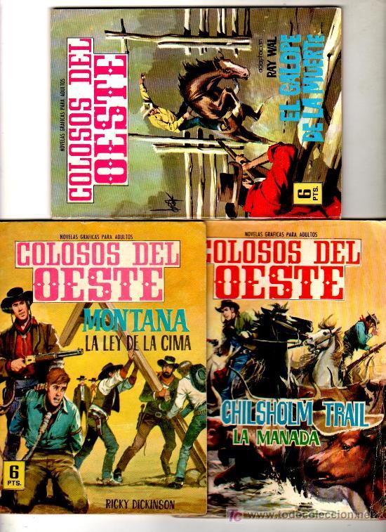 COLOSOS DEL OESTE FERMA 1962, NºS 41 - 68 - 101 , 64 PGS. EJEMPLAR (Tebeos y Comics - Ferma - Colosos de Oeste)
