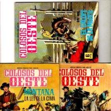 Tebeos: COLOSOS DEL OESTE FERMA 1962, NºS 41 - 68 - 101 , 64 PGS. EJEMPLAR. Lote 18005099