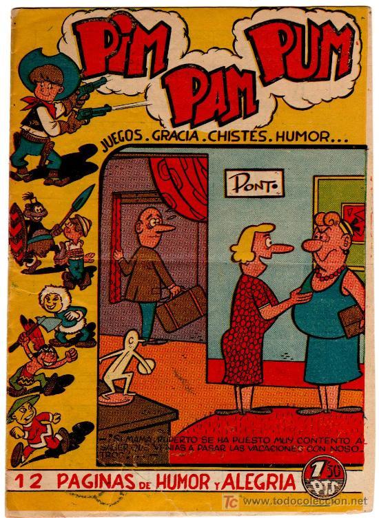 PIM PAM PUM Nº 23, ÚLTIMO ?, EDI. FERMA 1957, 12 PGS. 24 X 17 CMS, VER CONTRAPORTADA (Tebeos y Comics - Ferma - Otros)