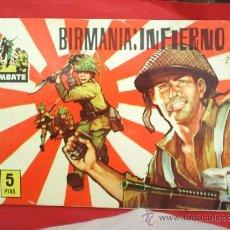 Tebeos: COMBATE , NUMERO 8 , BIRMANIA : INFIERNO, 1963 ,EDITORIAL FERMA. Lote 27278913