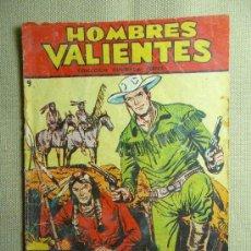 Tebeos: COMIC, HOMBRES VALIENTES, Nº 9, HONDO, INDIOS SANGRIENTOS, FERMA, ORIGINAL. Lote 22788245