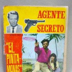 Tebeos: COMIC, TEBEO, ORIGINAL, AGENTE SECRETO, Nº 19, EL PINTAMONAS. Lote 24150009
