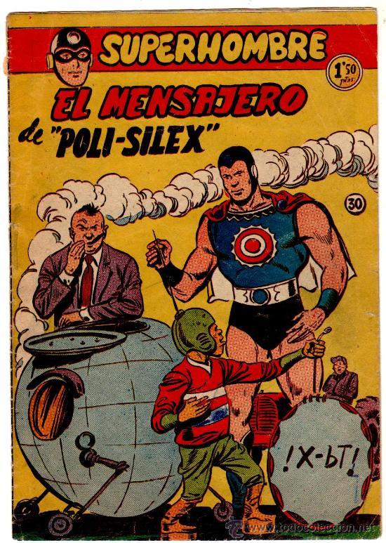 SUPERHOMBRE Nº 30 EDI. FERMA 1956, DIBUJO DE GIRAL, ORIGINAL (Tebeos y Comics - Ferma - Otros)