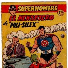 Tebeos: SUPERHOMBRE Nº 30 EDI. FERMA 1956, DIBUJO DE GIRAL, ORIGINAL. Lote 23653300