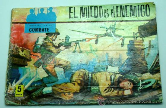 CINECOLOR COMBATE Nº 9 EL MIEDO ES EL ENEMIGO EDITORIAL FERMA 1963 (Tebeos y Comics - Ferma - Combate)