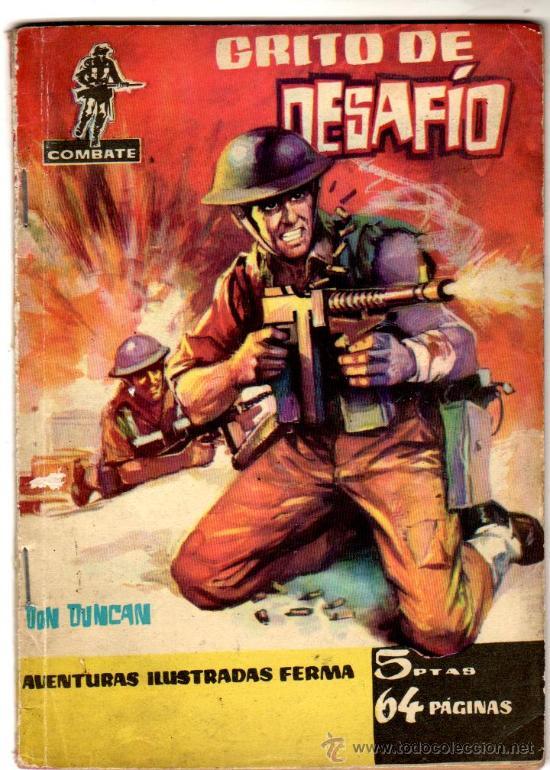 COMBATE Nº 21 EDI. FERMA 1962, 64 PGS. 16,5 X 11,5CMS. (Tebeos y Comics - Ferma - Combate)