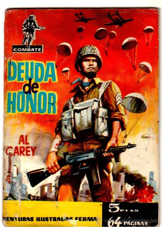 COMBATE Nº 5 EDI. FERMA 1962 - 64 PGS - 16,5 X 10,5 CMS - MUY DIFICIL (Tebeos y Comics - Ferma - Combate)