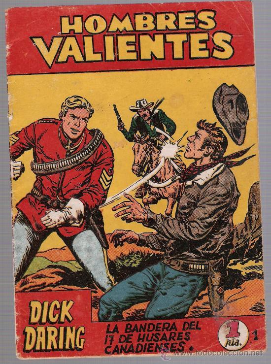 HOMBRES VALIENTES DICK DARING Nº 1. FERMA 1958. (Tebeos y Comics - Ferma - Otros)