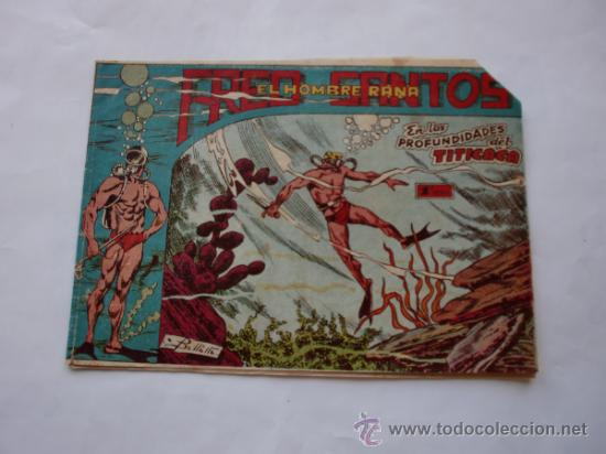 FRED SANTOS Nº 10 EL HOMBRE RANA ORIGINAL (Tebeos y Comics - Ferma - Otros)