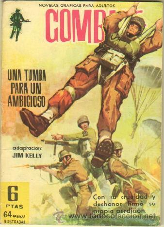 COMBATE Nº 87 EDI. FERMA 1962 - 64 PGS. 16,5 X 11,7 CMS - UNA TUMBA PARA UN AMBICIOSO (Tebeos y Comics - Ferma - Combate)