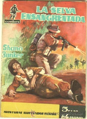 COMBATE Nº 7 EDI. FERMA 1962 - 64 PGS. 16,5 X 11,7 CMS - LA SELVA ENSANGRENTADA (Tebeos y Comics - Ferma - Combate)