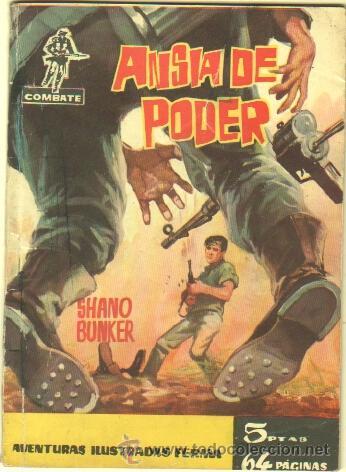 COMBATE Nº 10 EDI. FERMA 1962 - 64 PGS. 16,5 X 11,7 CMS - ANSIA DE PODER (Tebeos y Comics - Ferma - Combate)