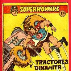 Tebeos: SUPERHOMBRE , Nº 42 B , TRACTORES Y DINAMITA , FERMA , ORIGINAL ,J. Lote 35346826