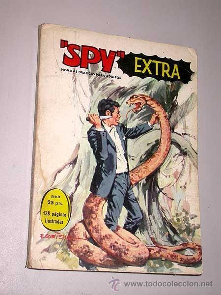 SPY EXTRA Nº 4. EDITORIAL FERMA, 1969. 3 HISTORIETAS COMPLETAS, INTRIGA, BÉLICO, CIENCIA FICCIÓN. (Tebeos y Comics - Ferma - Otros)