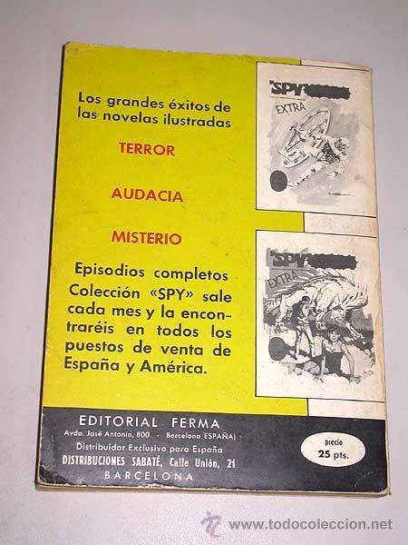 Tebeos: SPY EXTRA Nº 4. EDITORIAL FERMA, 1969. 3 HISTORIETAS COMPLETAS, INTRIGA, BÉLICO, CIENCIA FICCIÓN. - Foto 3 - 36602662
