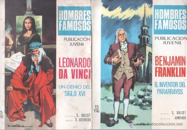 HOMBRES FAMOSOS EDI.TORAY 1968 - 7 TEBEOS, (Tebeos y Comics - Ferma - Otros)
