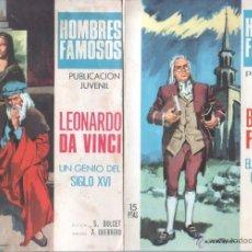 Tebeos: HOMBRES FAMOSOS EDI.TORAY 1968 - 7 TEBEOS,. Lote 39796275