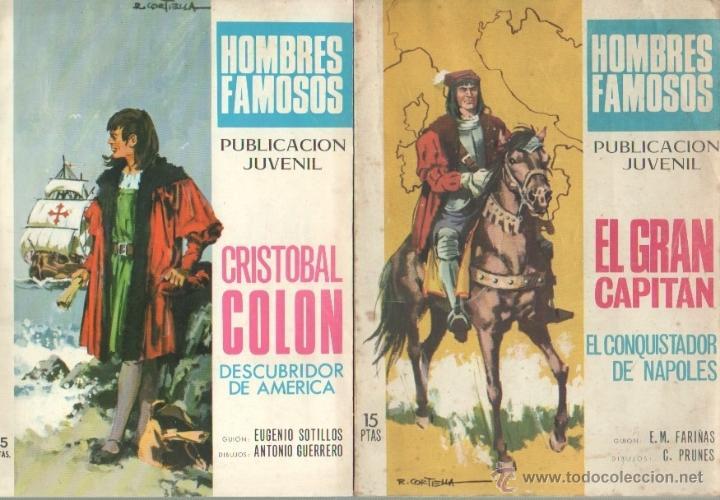 Tebeos: HOMBRES FAMOSOS EDI.TORAY 1968 - 7 TEBEOS, - Foto 2 - 39796275