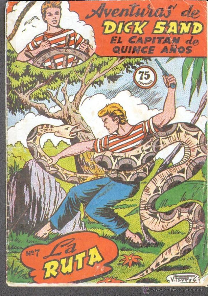 TEBEOS-COMICS GOYO - DICK SAND - Nº 7 - FERMA - 1955 - MUY RARO *AA99 (Tebeos y Comics - Ferma - Otros)
