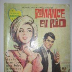 Tebeos: SERIE AMOR. ROMANCE EN RIO. Nº160. 1962. MIDE: 16,6 X 12 CMS.. Lote 41111062