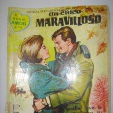 Tebeos: SERIE AMOR. UN CHICO MARAVILLOSO. Nº168. 1962. MIDE: 16,6 X 12 CMS.. Lote 41111346