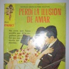 Tebeos: SERIE ROMANCE. PERDÍ LA ILUSIÓN DE AMAR. Nº156. 1962. MIDE: 16,6 X 11,8 CMS.. Lote 41111408