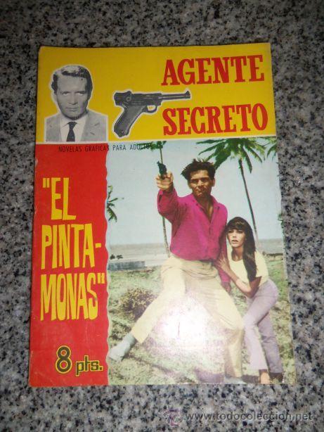 EL PINTA MONAS, POR R. DICKINSON - DIB.: COLLADO/ SERIE AGENTE SECRETO Nº 19 - FERMA - ESPAÑA - 1966 (Tebeos y Comics - Ferma - Agente Secreto)