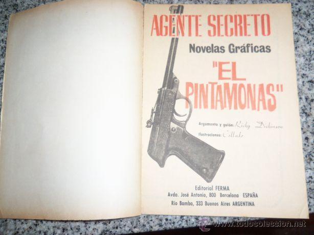 Tebeos: EL PINTA MONAS, por R. Dickinson - Dib.: Collado/ Serie Agente Secreto Nº 19 - FERMA - ESpaña - 1966 - Foto 2 - 41793172