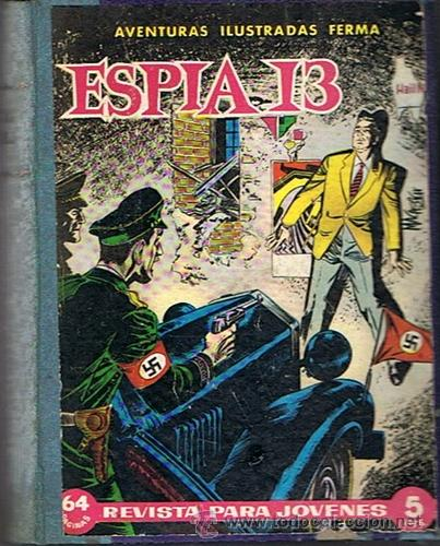 LIBRO RETAPADO COMICS VARIOS ESPIA 13,KIT CARSON, BUCK JONES ,ROBIN HOOD (Tebeos y Comics - Ferma - Otros)