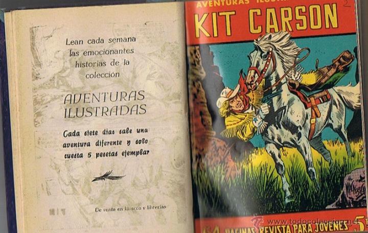 Tebeos: LIBRO RETAPADO COMICS VARIOS ESPIA 13,KIT CARSON, BUCK JONES ,ROBIN HOOD - Foto 3 - 43452592