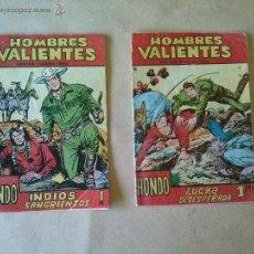 Tebeos: HOMBRES VALIENTES Nº 9 Y 11 - FERMA. Lote 43778667