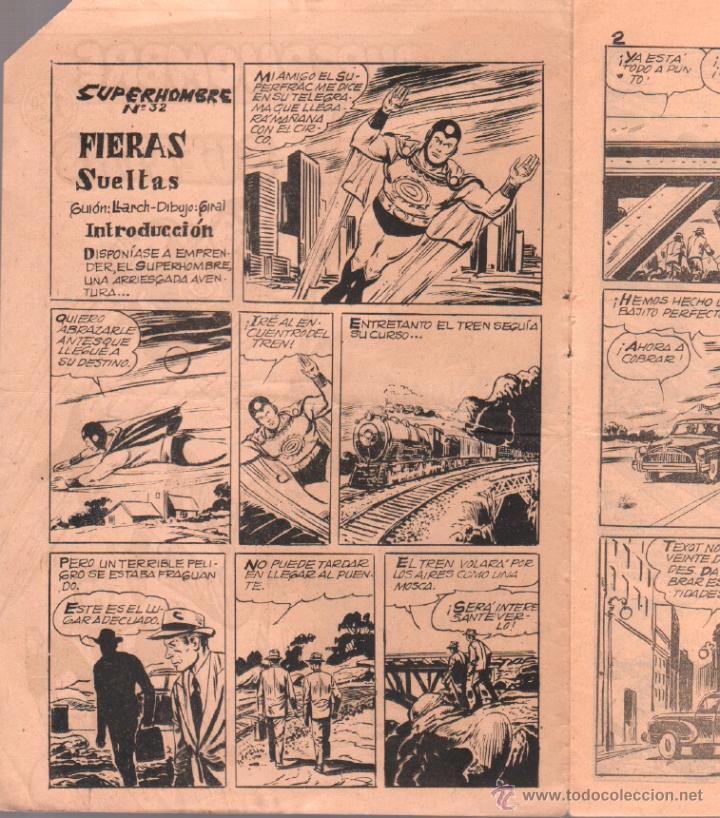 Tebeos: SUPERHOMBRE Nº 32 ORIGINAL EDITORIAL FERMA - Foto 2 - 49481781