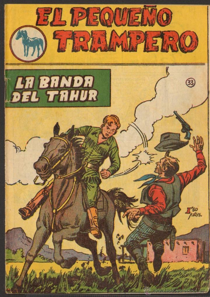 TEBEOS-COMICS GOYO - PEQUEÑO TRAMPERO - Nº 33 - FERMA - MUY RARO - 1957 - BB99 (Tebeos y Comics - Ferma - Otros)