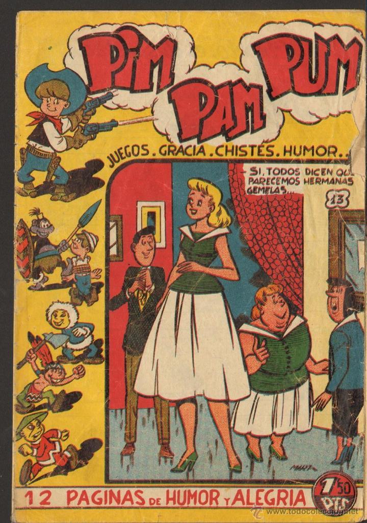 TEBEOS-COMICS GOYO - PIM PAM PUM 13 - ED. FERMA - 1957 - ORIGINAL - MUY DIFICIL *UU99 (Tebeos y Comics - Ferma - Otros)