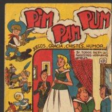 Tebeos: TEBEOS-COMICS GOYO - PIM PAM PUM - ED. FERMA - 1957 - Nº 13 - ORIGINAL - MUY DIFICIL *UU99. Lote 49616643